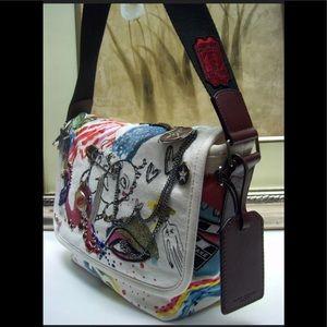 MARC JACOBS Embellished Collage Print Bag
